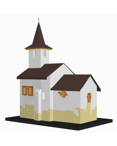 """Modelul 3D al Bisericii de Piatră """"Sf. Gheorghe"""" din Streisângiorgiu"""